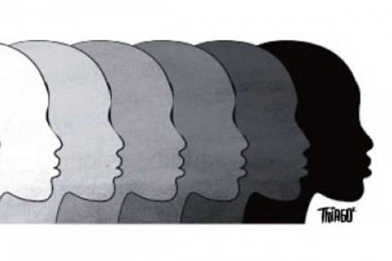 A disparidade de salários entre trabalhadores brancos e negros.
