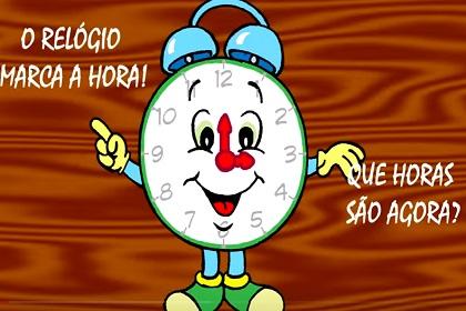 O relógio marca a hora! Que horas são agora?